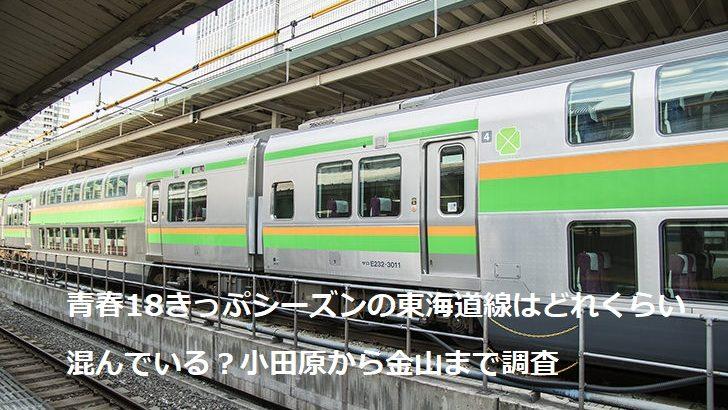 青春18きっぷシーズンの東海道線はどれくらい混んでいる?小田原から金山まで調査