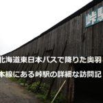 北海道東日本パスで降りた奥羽本線にある峠駅の詳細な訪問記