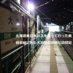 北海道東日本パスを使って行った奥羽本線にある大沢駅の詳細な訪問記